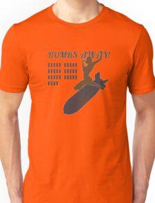 Vintage Look Bombs Away Pin-up Girl Art Unisex T-Shirt
