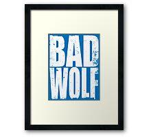 BAD WOLF (WHITE) Framed Print