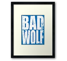 BAD WOLF (WHITE) Framed Print