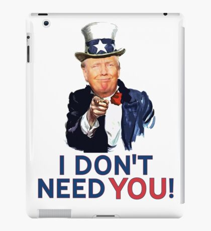 Donald Trump is Uncle Sam iPad Case/Skin