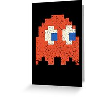 Vintage Look Arcade Pixel Ghost Man  Greeting Card
