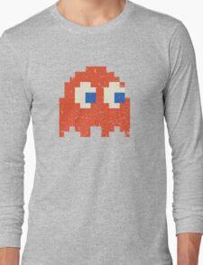 Vintage Look Arcade Pixel Ghost Man  Long Sleeve T-Shirt