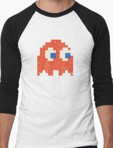 Vintage Look Arcade Pixel Ghost Man  Men's Baseball ¾ T-Shirt