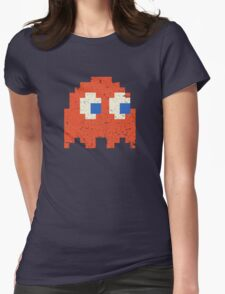 Vintage Look Arcade Pixel Ghost Man  Womens Fitted T-Shirt