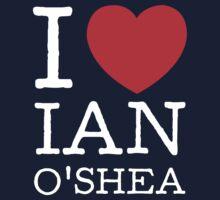 I LOVE IAN O'SHEA (white type) One Piece - Long Sleeve