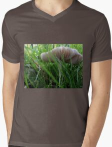 Mushrooms in the grass Mens V-Neck T-Shirt