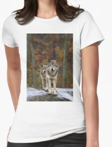 Double Trouble - Timber Wolves Womens Fitted T-Shirt