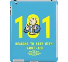 Vault Boy's 101 Reasons For Vault-Tec iPad Case/Skin