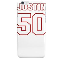 NFL Player Justin Houston fifty 50 iPhone Case/Skin
