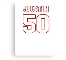 NFL Player Justin Houston fifty 50 Canvas Print