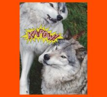 Wolves at play - Timber Wolf Kids Clothes