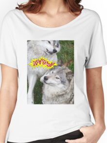 Wolves at play - Timber Wolf Women's Relaxed Fit T-Shirt
