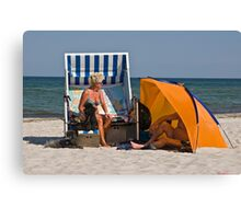 Summers day on German Beach.  Canvas Print