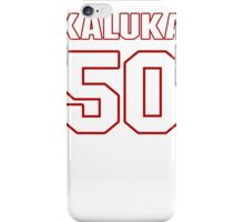 NFL Player Kaluka Maiava fifty 50 iPhone Case/Skin