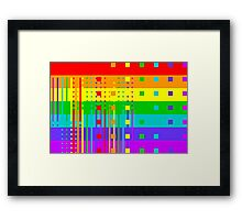 Graphic Rainbow IV Framed Print