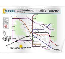 Sun Train - Tucson Metro Subway Map Poster