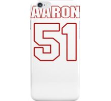 NFL Player Aaron Hill fiftyone 51 iPhone Case/Skin