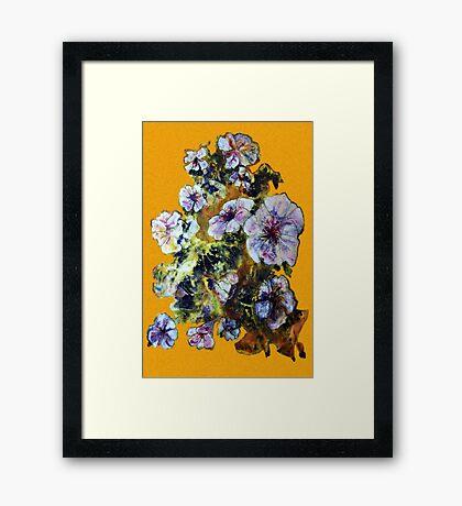 COSMIC FLOWERS Framed Print
