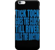 The Doctor's Song (BLUE) iPhone Case/Skin