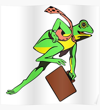 Frogger Frog Poster