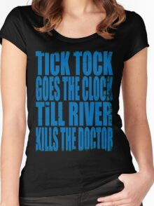 The Doctor's Song (BLUE) Women's Fitted Scoop T-Shirt