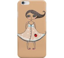 Girl with Ladybug iPhone Case/Skin