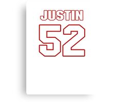 NFL Player Justin Durant fiftytwo 52 Canvas Print