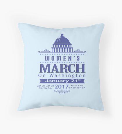 Million Women's March on Washington 2017 Throw Pillow