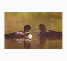 """""""Ahh…a-loon at last"""" - Common Loon Kids Clothes"""