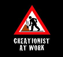 Creationist at Work  (Dark Backgrounds) by atheistcards