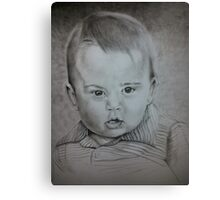 Little Prince George Portrait Drawing Canvas Print