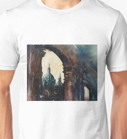 Watercolor painting of Cathedral in Cuenca, Ecuador Unisex T-Shirt