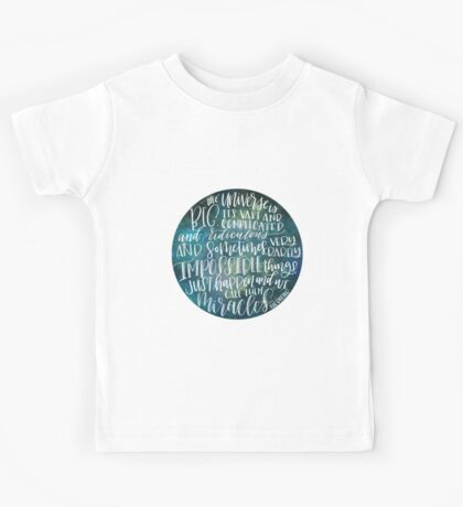 Doctor Who The Universe is Big Kids Tee