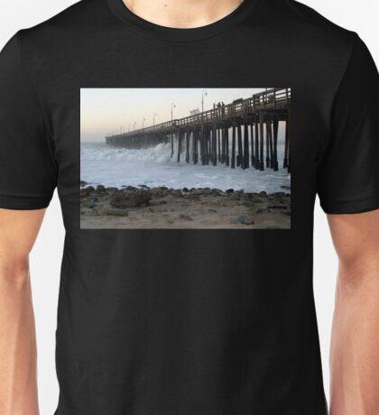 Ocean Wave Storm Pier Unisex T-Shirt
