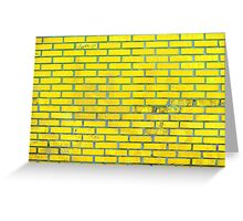 Yellow bricks Greeting Card
