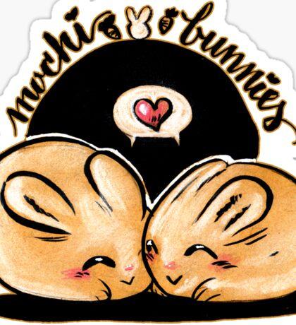 Mochi bunnies in love Sticker