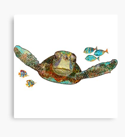 Flying Sea Turtle Funny Turtle Shirt Canvas Print