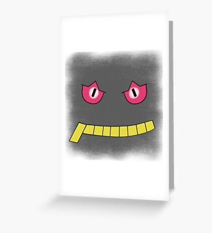 Pokemon Banette face Greeting Card