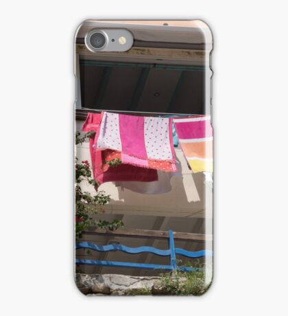 Washing on the balcony. iPhone Case/Skin