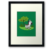 ZEBRA ROAD Framed Print