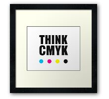 Think CMYK Framed Print