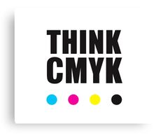 Think CMYK Canvas Print