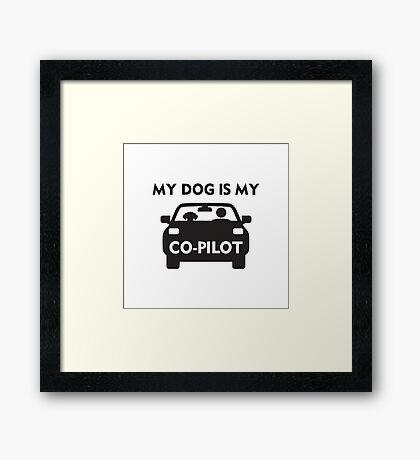 Dog Co-Pilot Framed Print