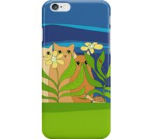 Three Cats, Two Flowers, One Snail and A Ladybug iPhone Case/Skin