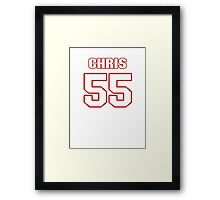 NFL Player Chris Myers fiftyfive 55 Framed Print