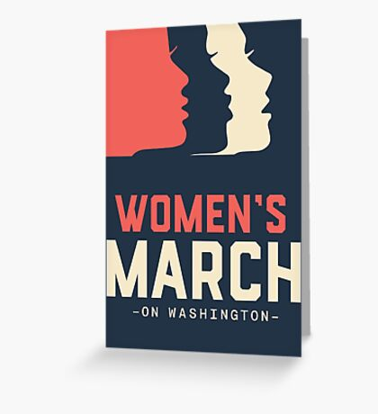 Women March Greeting Card