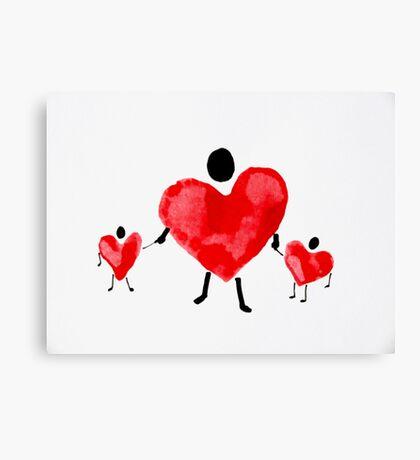 Heart People Series #3 Canvas Print