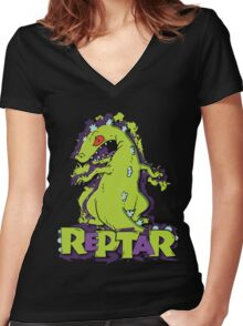 Reptar - Rugrats Women's Fitted V-Neck T-Shirt