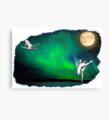 Aurora ballerina in the moon light Canvas Print
