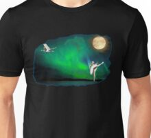 Aurora ballerina in the moon light Unisex T-Shirt